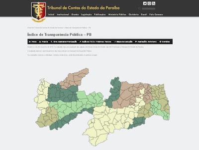 Cinco prefeituras da Paraíba têm nota 0 em índice de transparência, diz TCE