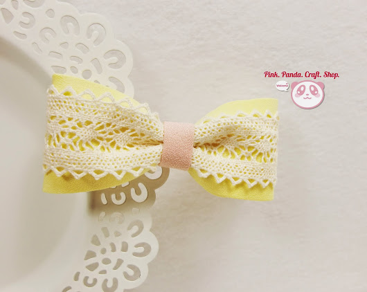 PinkPandaCraftShop: Do you like bows~? Cute hair bows giveaway!