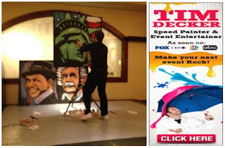 Fun With Speed Painter and Event Entertainer Tim Decker