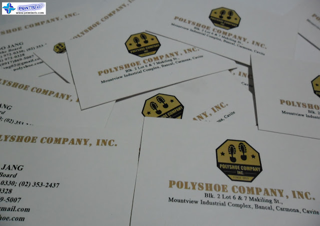Business Cards for Polyshoe Company, Inc.