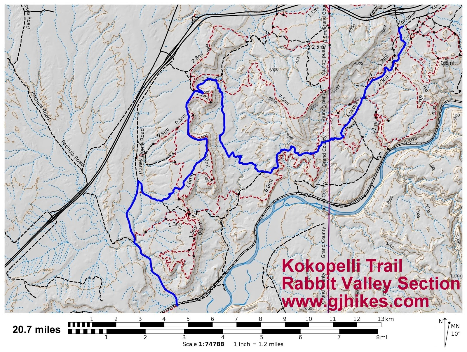 gjhikes.com: Kokopelli - Rabbit Valley Section on legacy trail map, manti-la sal national forest map, elizabeth furnace recreation area trail map, phil's trail map, american discovery trail map, mee canyon map, independence trail map, cowboy trail map, hole in the rock trail map, loon trail map, phoenix trail map, buffalo trail map, great divide trail map, white rock lake trail map, deep creek trail map, colorado forest service trail map, bear creek trail map, las vegas bike trail map, rabbit valley map, lunch loops trail map,