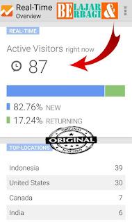 Pengunjung Dari Google Terekam dari Analitycs