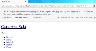 Cara Menggunakan Web Cached Google