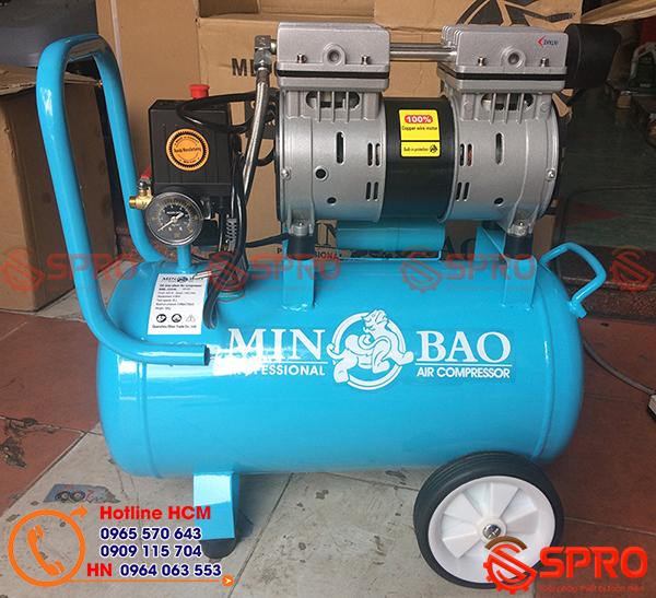 Máy bơm hơi mini không dầu 1HP Minbao MB-024 dùng tại nhà