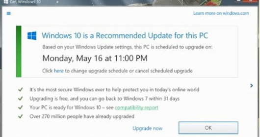 Windows 10 upgrade: Microsoft acusada de 'truque sujo'