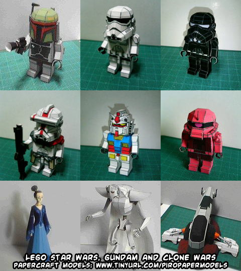 ninjatoes 39 papercraft weblog d l lego star wars gundam and clone wars papercraft models. Black Bedroom Furniture Sets. Home Design Ideas