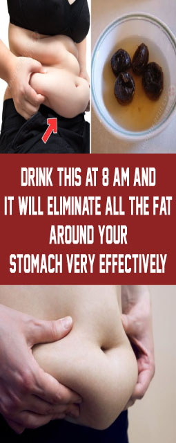 Drink This At 8 AM And It Will Eliminate All The Fat Around Your Stomach Very Effectively