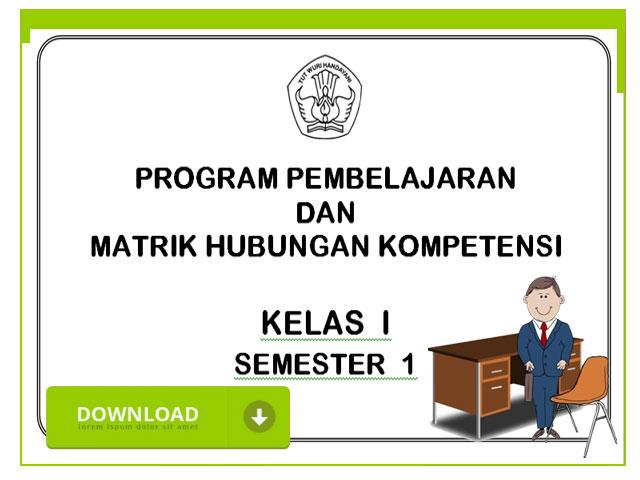 Download Contoh Program Semester Lengkap Semua Mapel SD Kelas 1