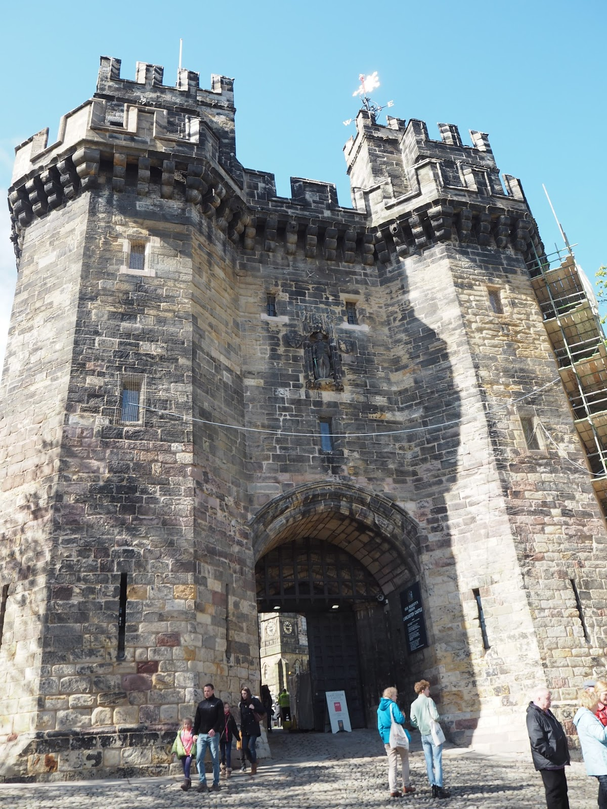 Lancaster Castle, entrance door