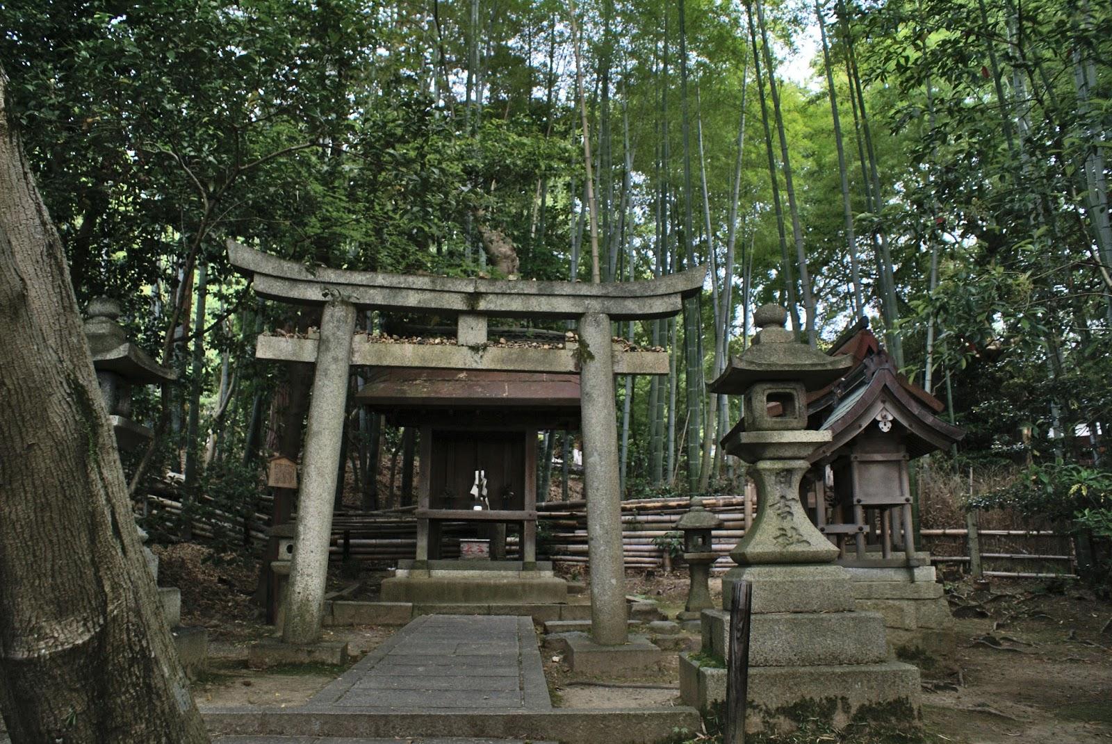 kyoto japan higashiyama shoren-in garden sanctuary torii