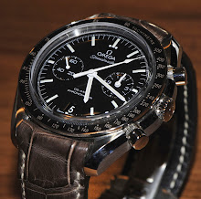 Steve's Omega Speedmaster on Tourbe Brune Alligator with 'TCLS'