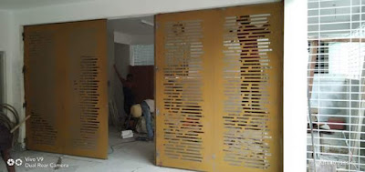 Pemasangan di lokasi, pemasangan pagar rumah laser cutting di lokasi