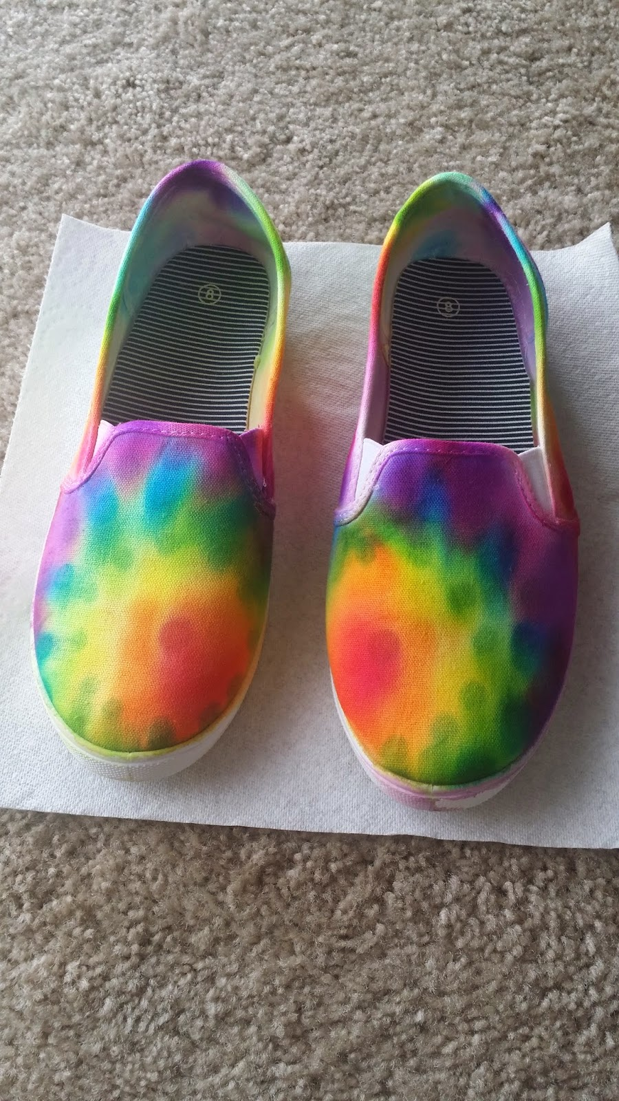 270a36c7af Made In Michigan  DIY Tie Dye Shoes (with Sharpies!)
