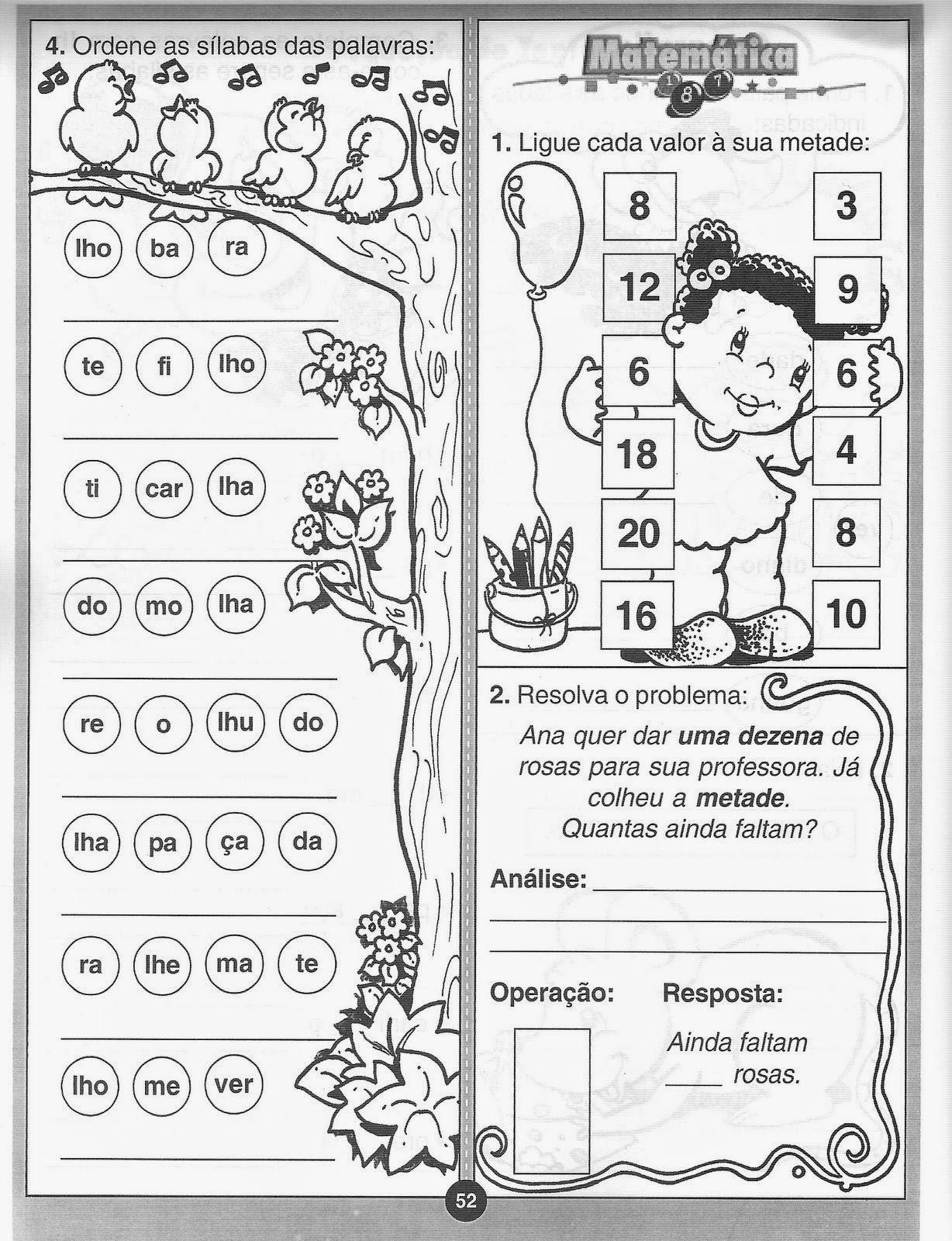 70 Atividades De Alfabetizacao Ed Infantil Pre Creche
