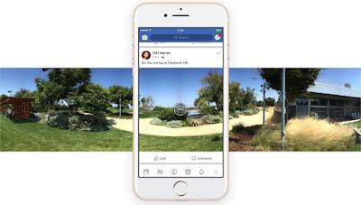 How to take 360-degree photos in Facebook's iOS app