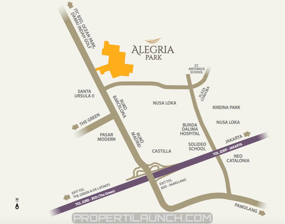 Peta Lokasi Alegria Park BSD