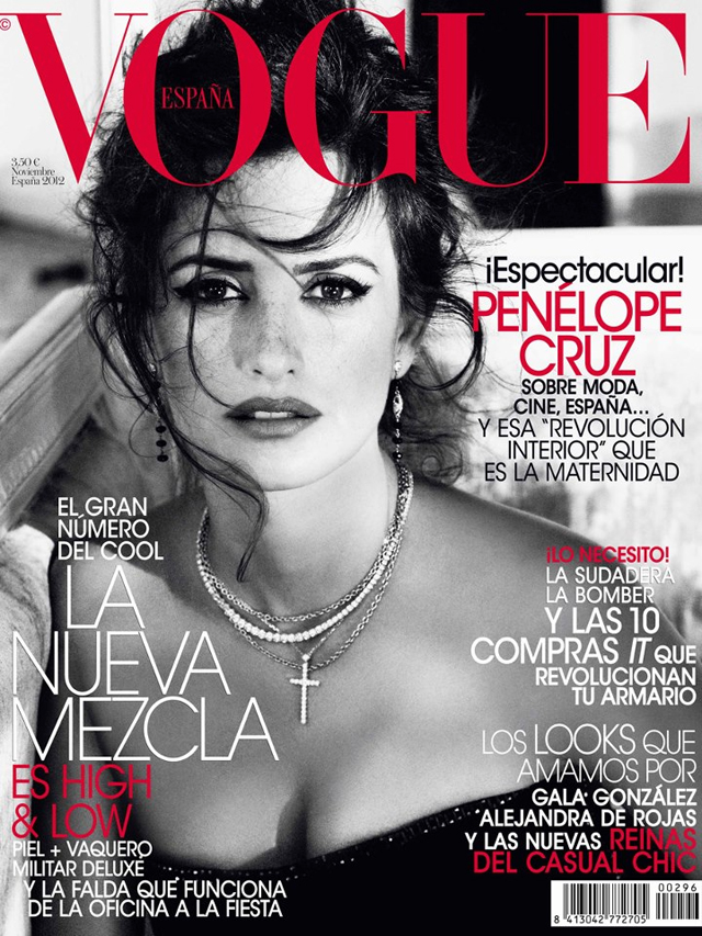 Penelope Cruz Vogue Spain cover November 2012