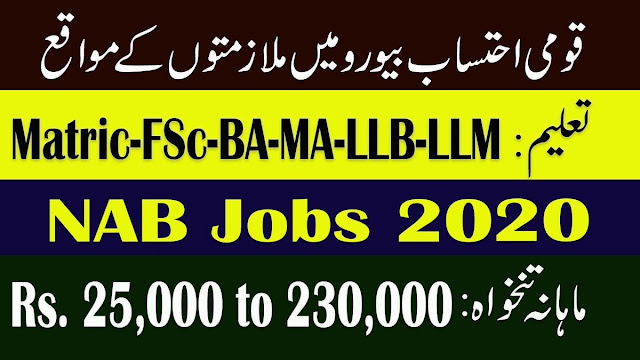 Jobs in NAB 2020 Latest Advertisement