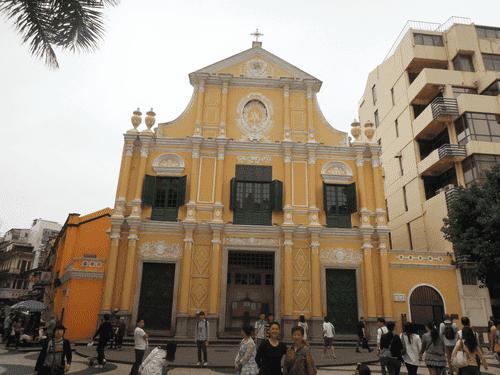 Sto. Domingo Church at Largo do Senado in Macau