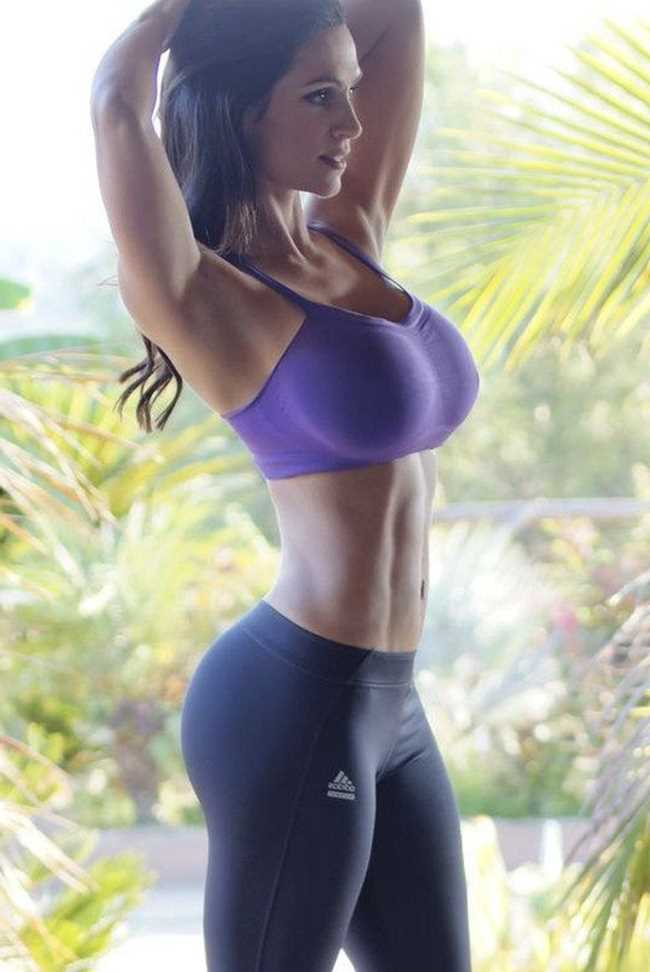 Sexy chick in yoga pants big boobs picture