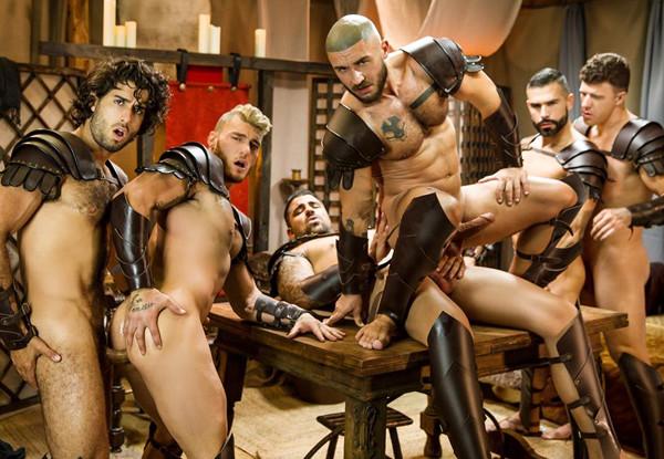 Men.com – William Seed, Diego Sans, François Sagat, Jj Knight, D.o. & Ryan Bones' Six-man Orgy – Sacred Band Of Thebes, Part 4 – DrillMyHole
