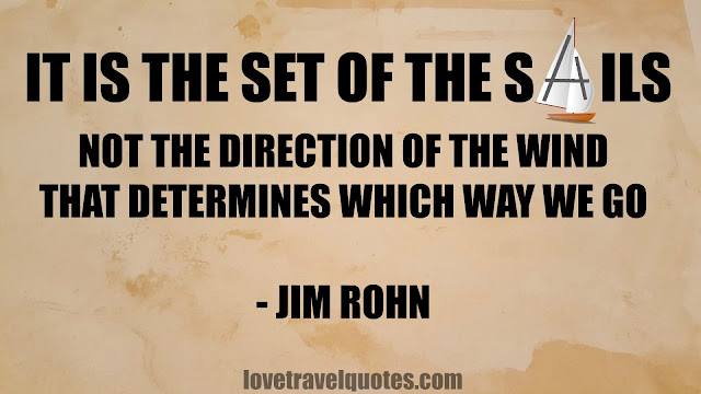 It is the set of the sails not the direction of the wind