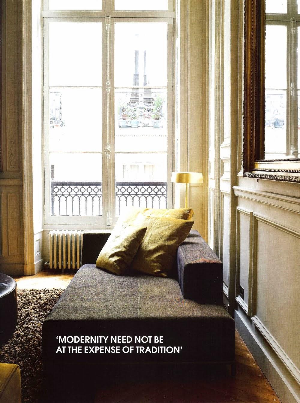 Interiors Paris glamorous gold velvet