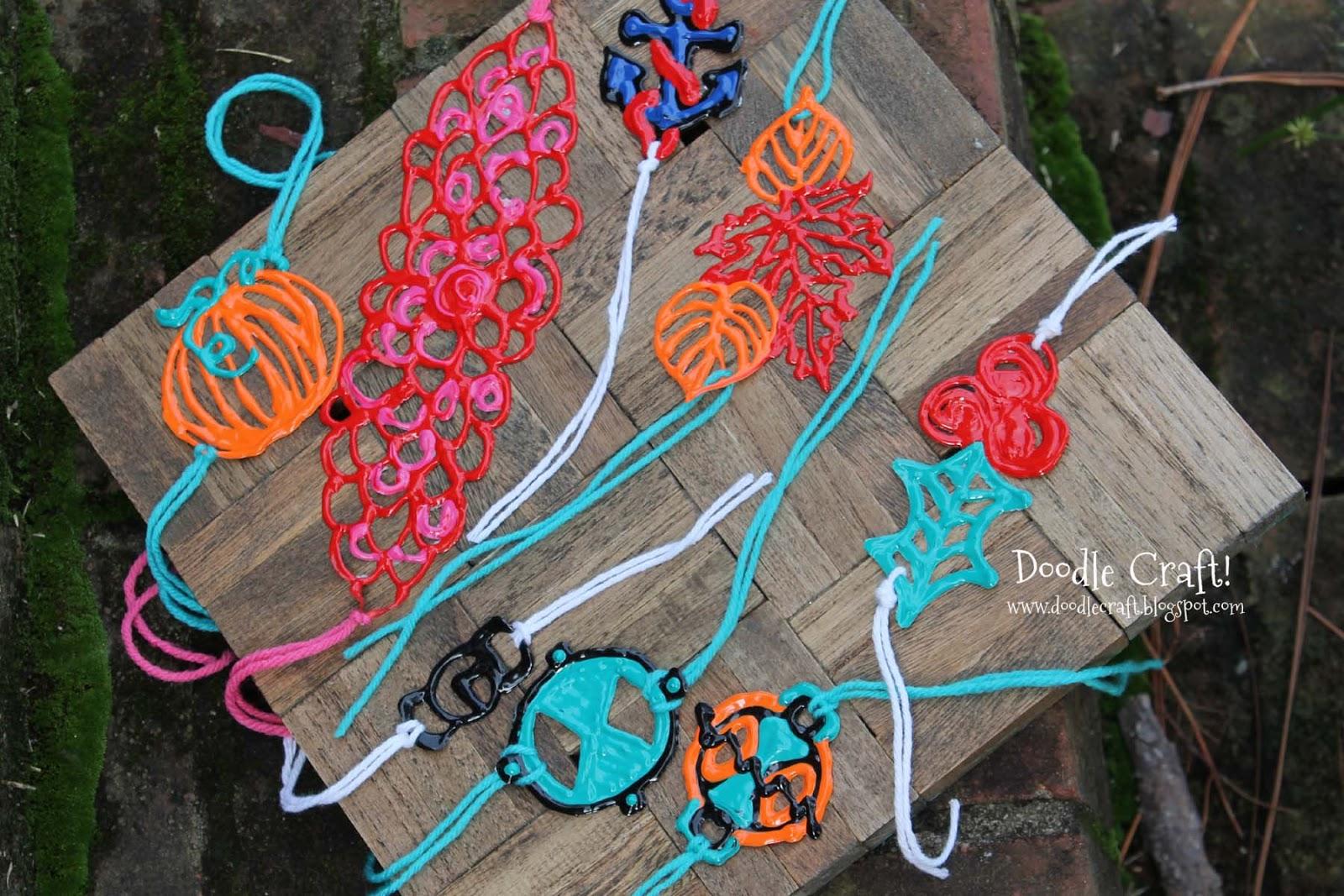 Doodlecraft: Puffy Paint Bracelets Wristbands and Headbands!