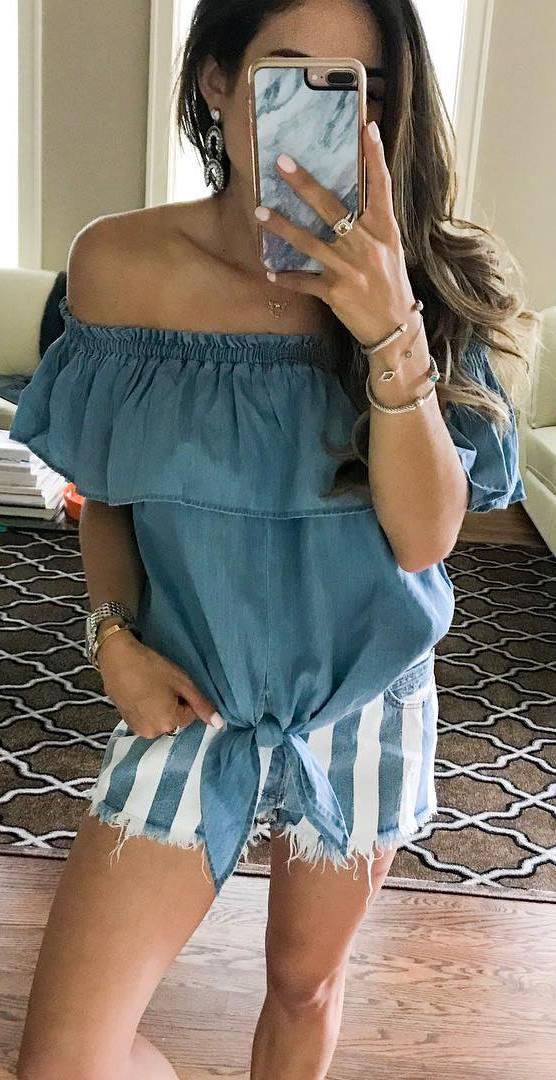 fashionable summer outfit idea