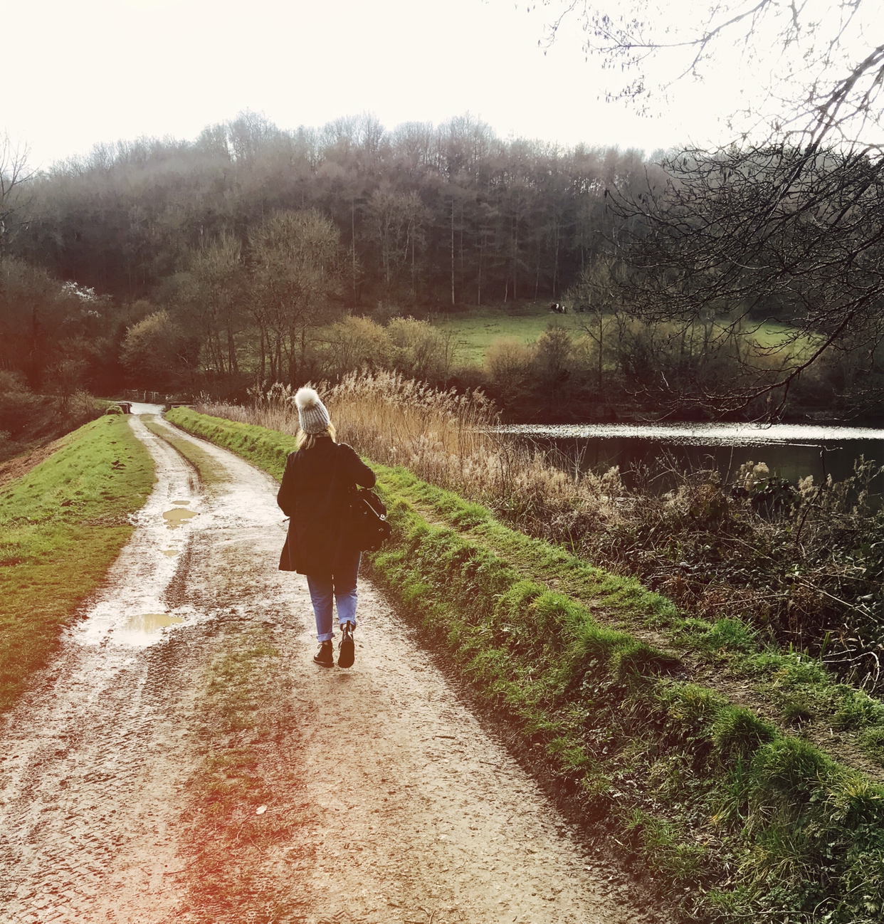 Lifestyle blogger Chloe Harriets going for a walk