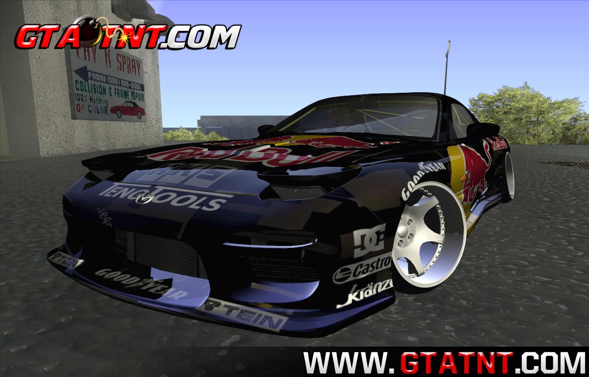 GTA SA - Mazda RX7 Madmikes Redbull | GTA TNT | Mods Para GTA