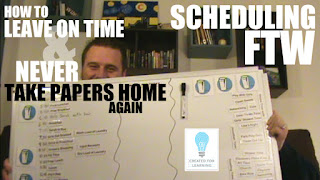 Scheduling for the Win (Episode 12). The 7th installment in our series: How to Leave on Time and Never Take Papers Home Again ... In which we show you how scheduling out your day will set you up for success.