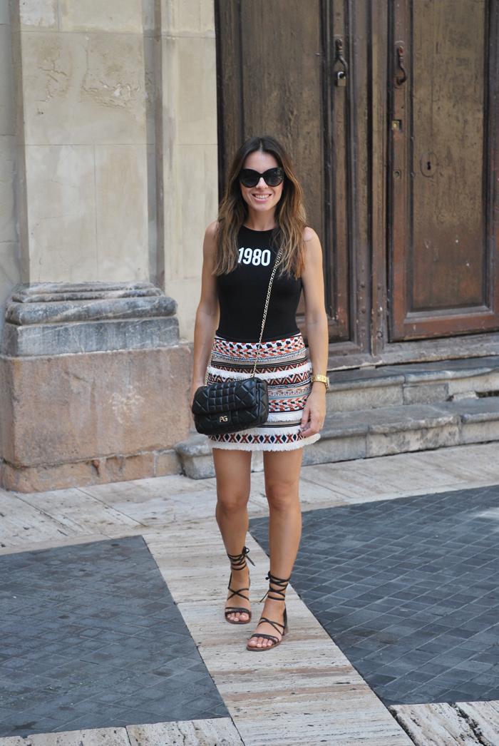 1980 mini skirt