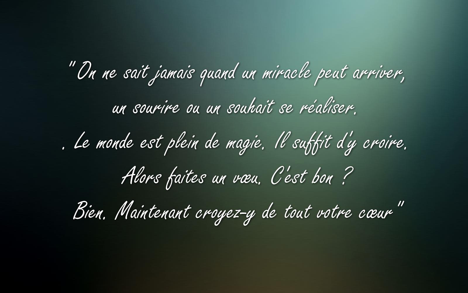 citation miracle bonheur - belle citation sur la vie et proverbe ...
