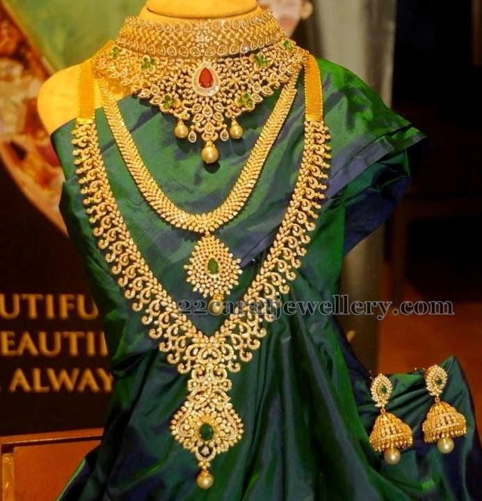 Diamond Sets By Pmj Jewels Jewellery Designs