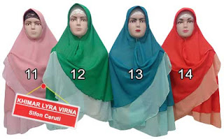 Jilbab khimar bolak balik dua warna murah edisi bulan ke 4