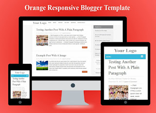 Orange Responsive Blogger Template