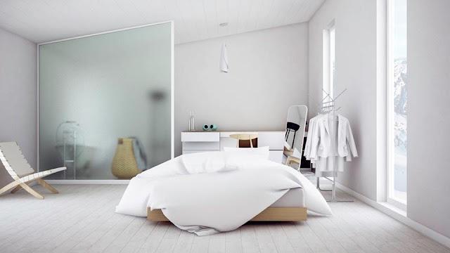 Kamar Tidur Sempit, Terasa Lebih Luas dengan Tema Scandinavian