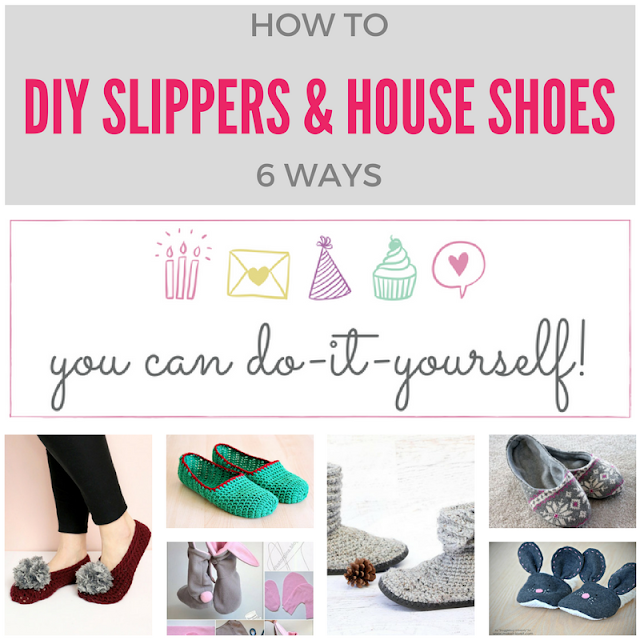 6 DIY slippers & house shoes ideas
