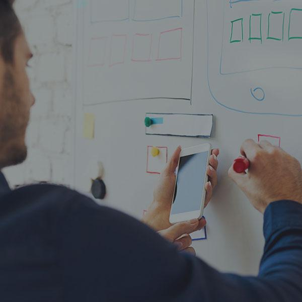 Website design brainstorming session