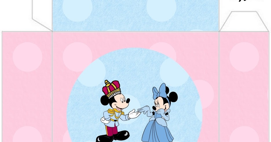 Mickey And Minnie King And Queen Free Printable Boxes