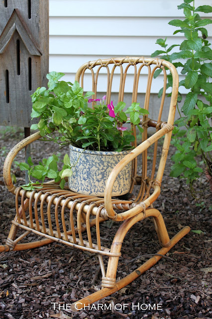 I Am Adding Some Rustic Garden Decor. Just About Anything Will Work. I Have  Added A Ladder, Steering Wheel, Galvanized Bucket, A Childu0027s Rocker, ...