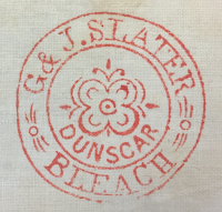 G & J. Slater Dunscar bleach works stamp