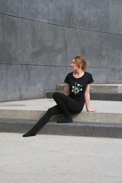 T-Shirt mit Schlagzeug, Siebdruck