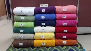 aneka warna handuk merk natural