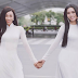 Đọ sắc với áo dài trắng như BB Trần và Hải Triều