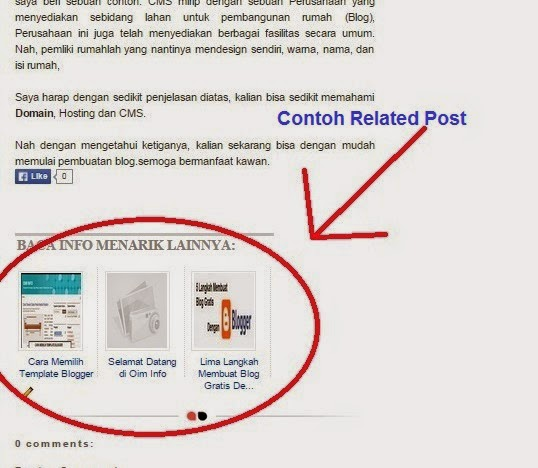 Contoh related post pada Blogger