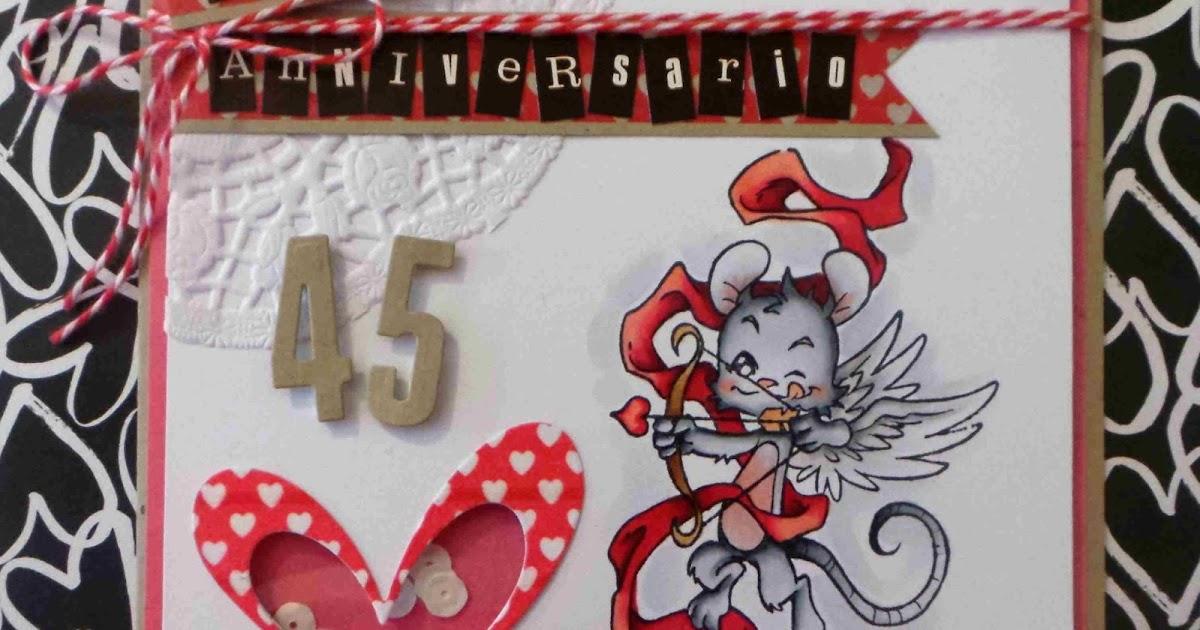 Shaker card per un anniversario