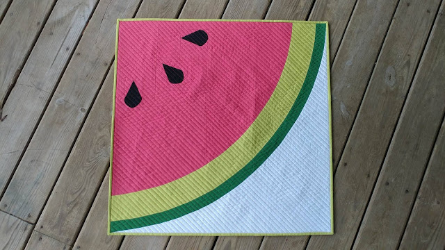 Sliced mini quilt for Moda by Slice of Pi Quilts