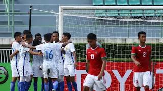 Timnas Indonesia U-22 Kalah 0-3 dari Malaysia